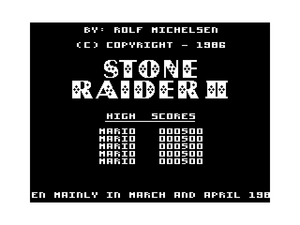 Stone Raider II title screen