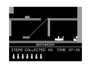 Bathroom: This is where the adventure begins