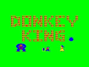 "Title screen from the original release named ""Donkey King"""
